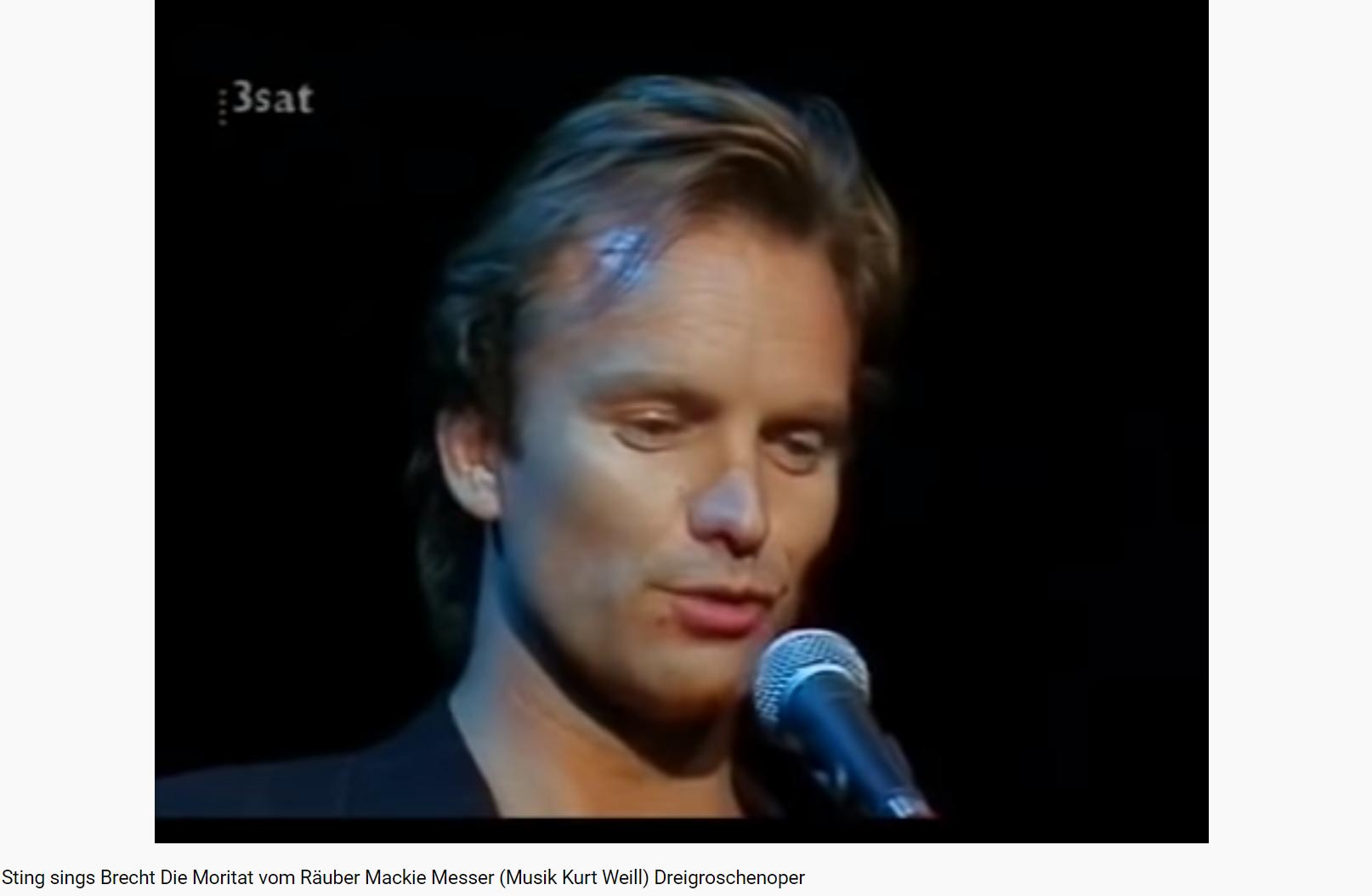 Weill la complainte de Mackie (Sting)
