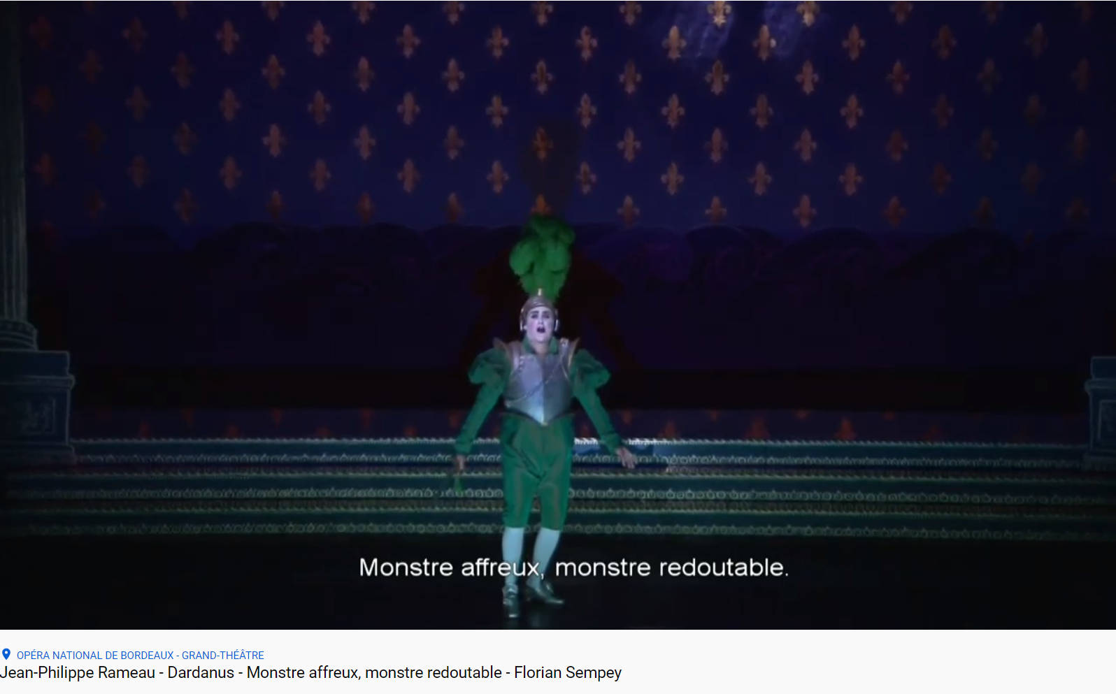 Rameau Dardanus mostre affreux monstre redoutable