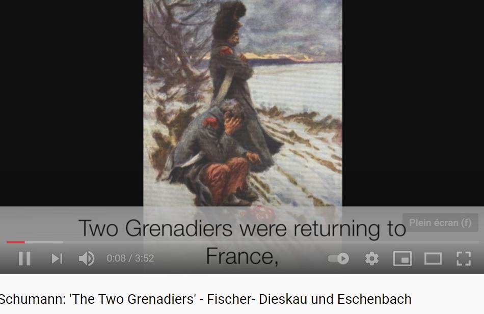 Schumann les deux grenadiers