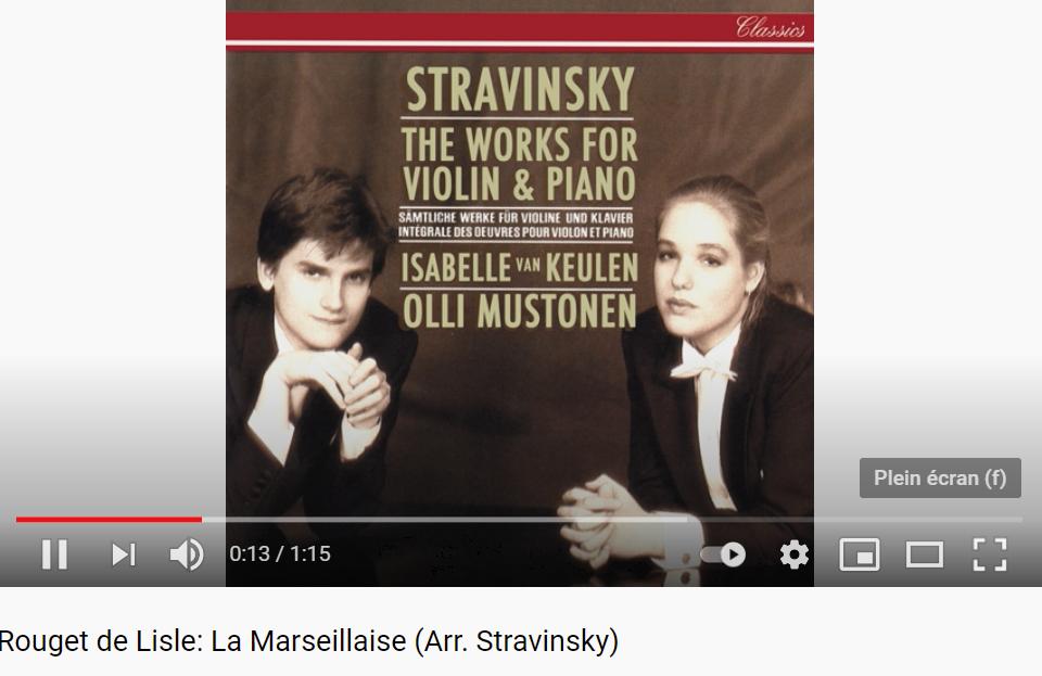 Stravinsky la Marseillaise