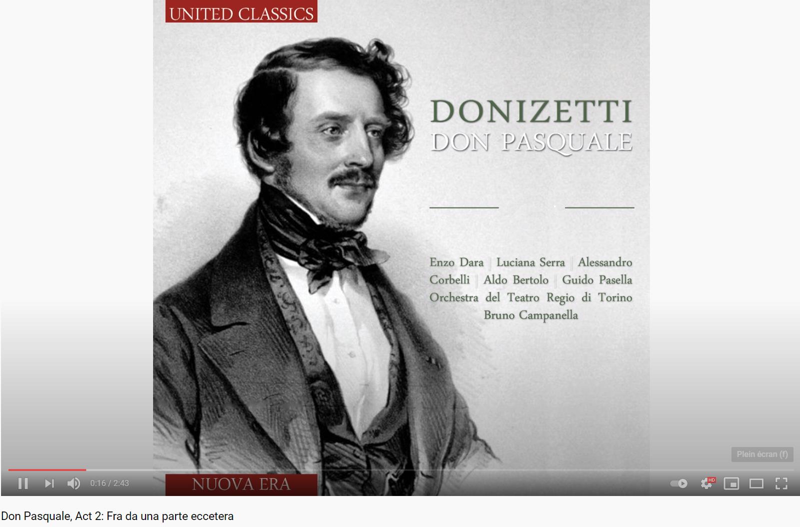 Donizetti Don Pasquale Fra da una parte eccetera
