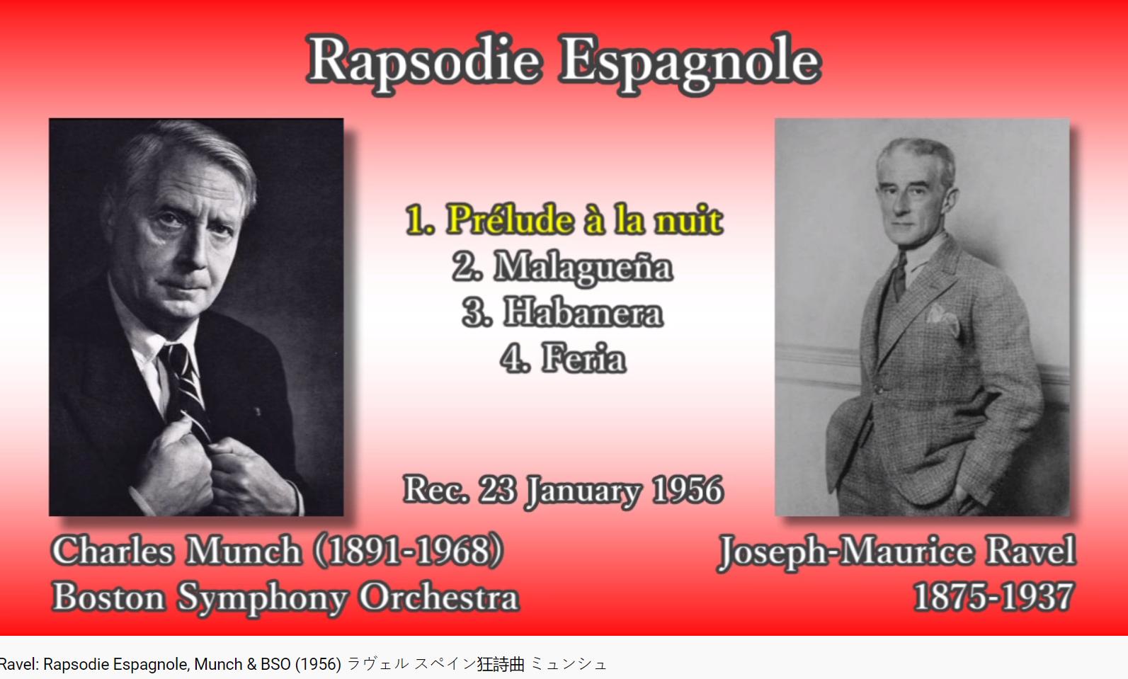 Ravel Rapsodie espagnole (Munch)