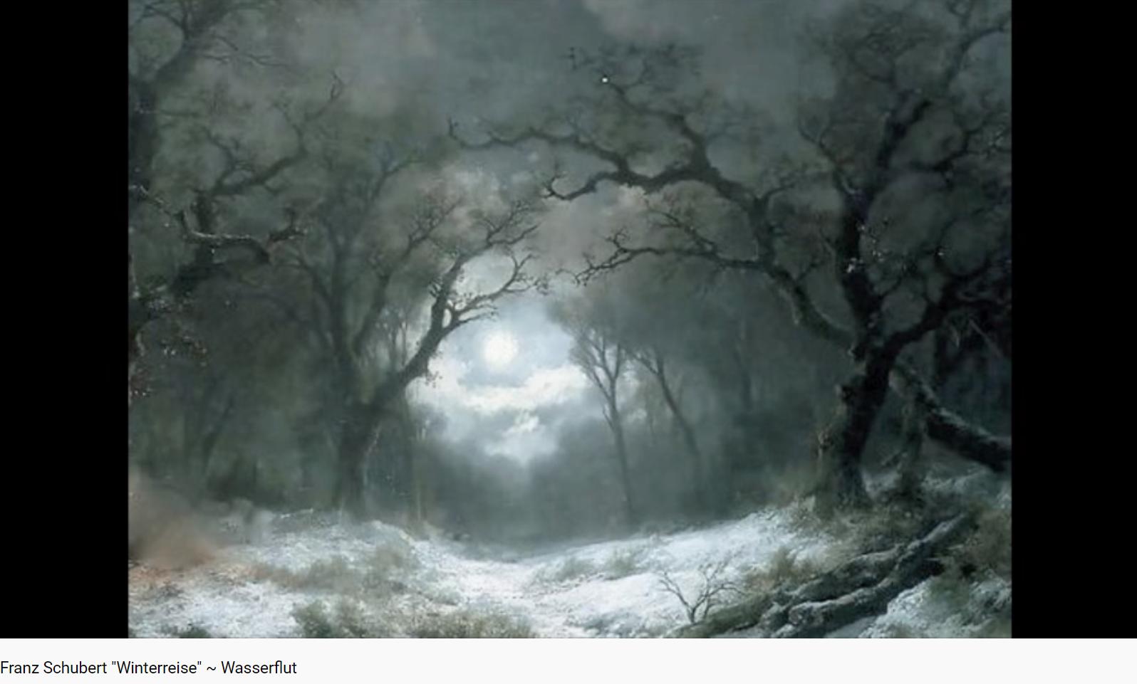 Schubert Winterreise Wasserflut