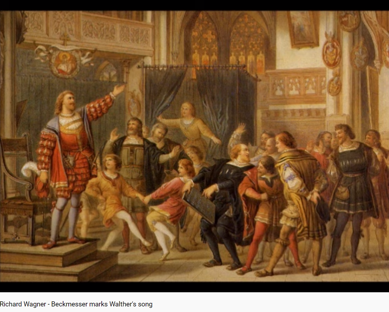 Wagner les Maîtres-chanteurs Beckmesser Walther acte I