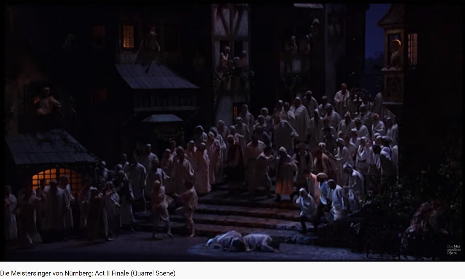 Wagner les Maîtres-chanteurs final acte II