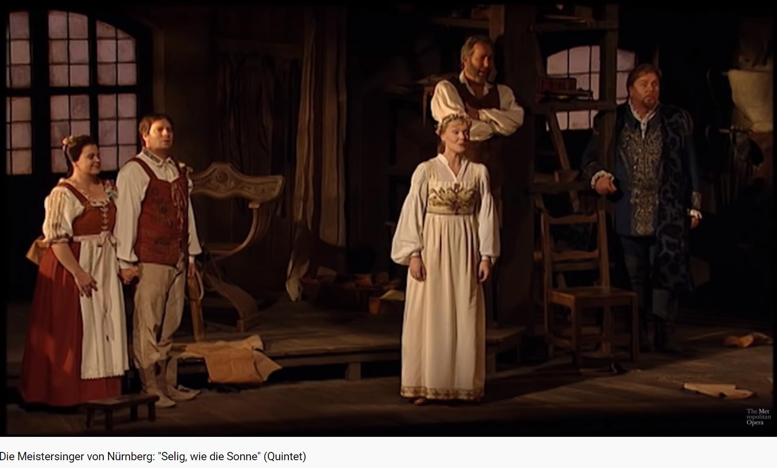 Wagner les Maîtres-chanteurs quintett Selig, wir die Sonne (quintette acte III)