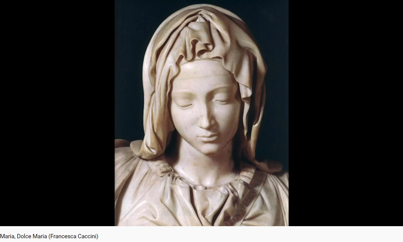 Caccini Francesca Maria, dolce Maria