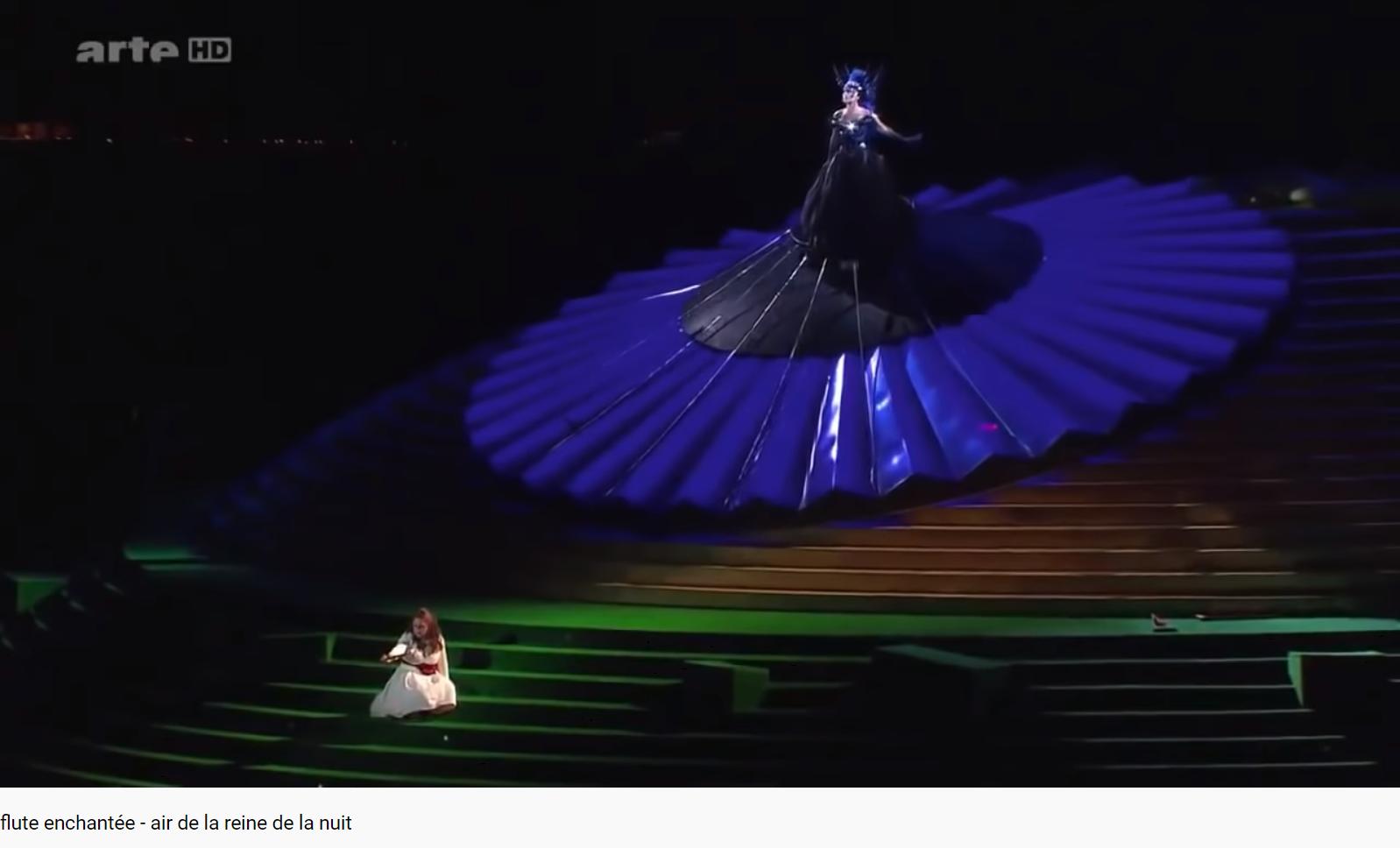 Mozart Zauberflöte Air de la reine de la nuit
