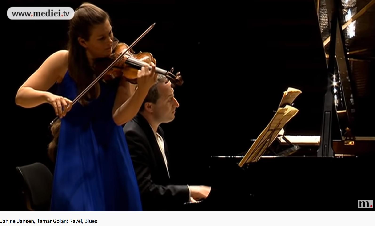 Ravel Sonate violon piano blues