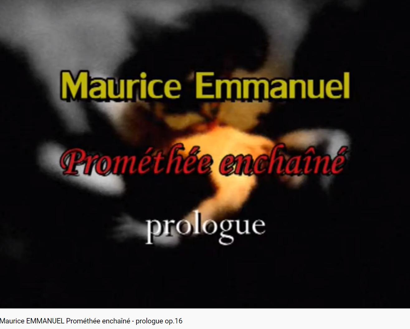 Emmanuel Prométhée enchaîné